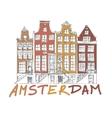Amsterdam City Drawing vector image vector image