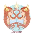 astrological sign gemini as a beautiful girl vector image vector image