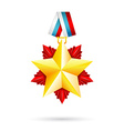 Award star for 23 February vector image