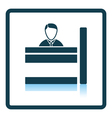 Bank clerk icon vector image vector image