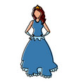 beautiful princess cartoon vector image vector image