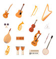 big collection music instruments vector image