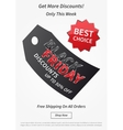 Black Friday Best Choice with price tag vector image
