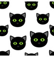 black heads cats pattern vector image vector image