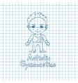 Boy gymnast in sketch sryle vector image vector image