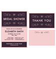 Bridal Shower Invitation and Thank You Cards vector image vector image