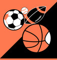 bright poster different sport balls vector image vector image