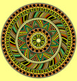 bright round ethnic pattern vector image vector image