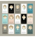 Business cards with cute girls for your design vector image vector image
