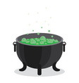 cauldron boiling green liquid vector image