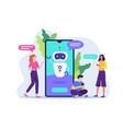 chatbot customer service vector image