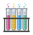 chemistry research laboratory test glass tube vector image vector image