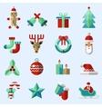 Christmas icons set color vector image