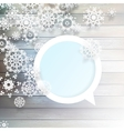 Christmas snowflakes on wood plus EPS10 vector image vector image