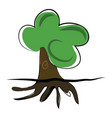 clipart a big tree with green leaves and vector image