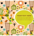 colorful eco pattern with place for your text vector image vector image