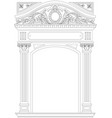 contouring coloring of classical arch vector image vector image