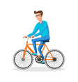cool character design on adult young man riding vector image