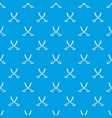 crossed sabers pattern seamless blue vector image vector image