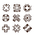 crosses ethnic elements vector image vector image
