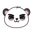 cute panda bear face vector image vector image