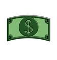 dollar bills cash money icon image vector image vector image
