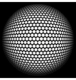 Dotted halftone sphere vector image vector image
