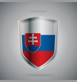 europe flags series slovakia modern icon vector image