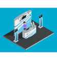 Exibition stand isometric vector image vector image