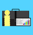 financial growth in business vector image