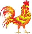 Fire Rooster symbol 2017 Cartoon character vector image