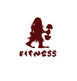 fitness caveman design template vector image
