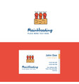 flat carrots farm logo and visiting card template vector image vector image
