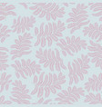 floral leaves pattern seamless background nature vector image vector image