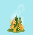 forest fire isolated icon vector image