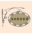 garden retro vintage street sign vector image vector image