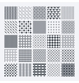 Geometric monochrome pattern set vector image