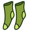 green socks on white background vector image