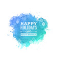 happy holidays greetings card christmas background vector image vector image