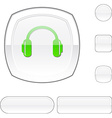 headphones white button vector image vector image