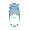 isolated milk bottle vector image