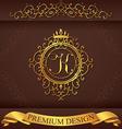 Letter K Luxury Logo template flourishes vector image