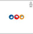 logo design pack social media vector image vector image