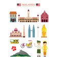malaysia landmarks architecture building object vector image vector image