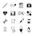 Medicine icons set black vector image
