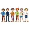 Men in different clothes design vector image vector image