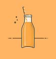 orange healthy smoothy vector image vector image