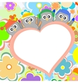 Penguin in love for Valentines greetings vector image vector image