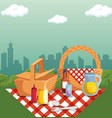 picnic time design vector image vector image