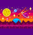 pixel art space seamless background detailed vector image